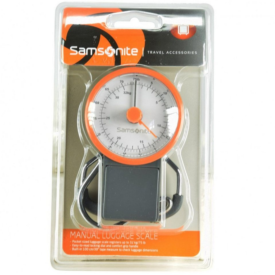 Samsonite Samsonite Travel Accessories Manual Luggage Scale Gepäckwaage in grey orange