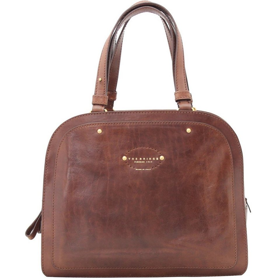 The Bridge The Bridge Brera Handtasche Leder 33 cm in marrone