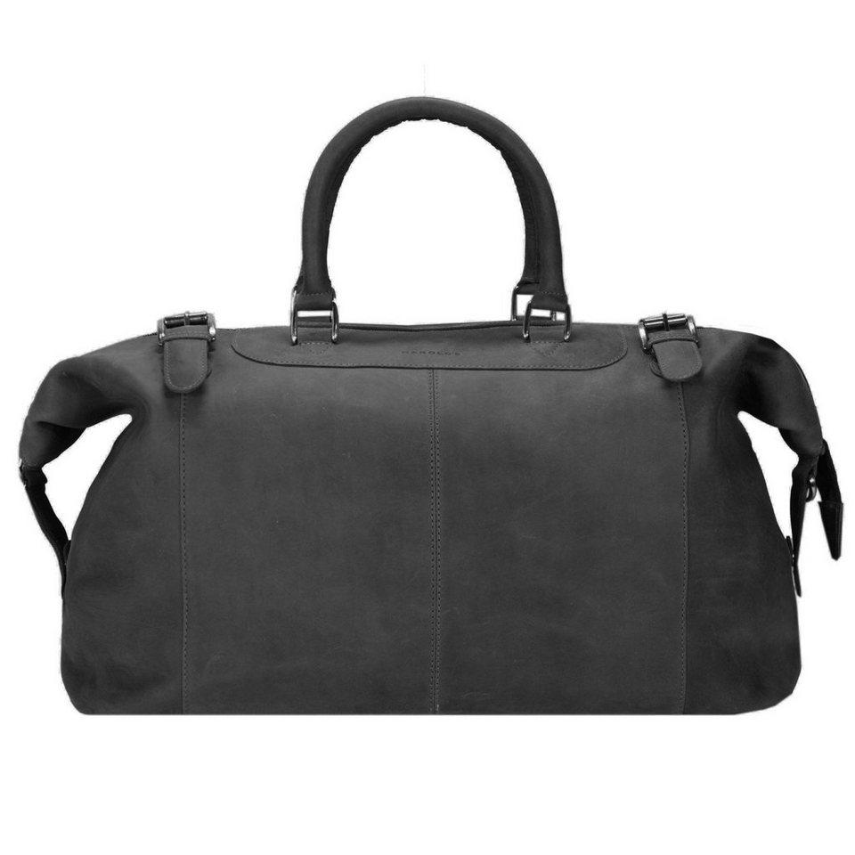 Harold's Toro Reisetasche Leder 52 cm in schwarz