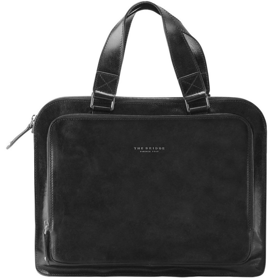 The Bridge Jade Handtasche Leder 40 cm in black