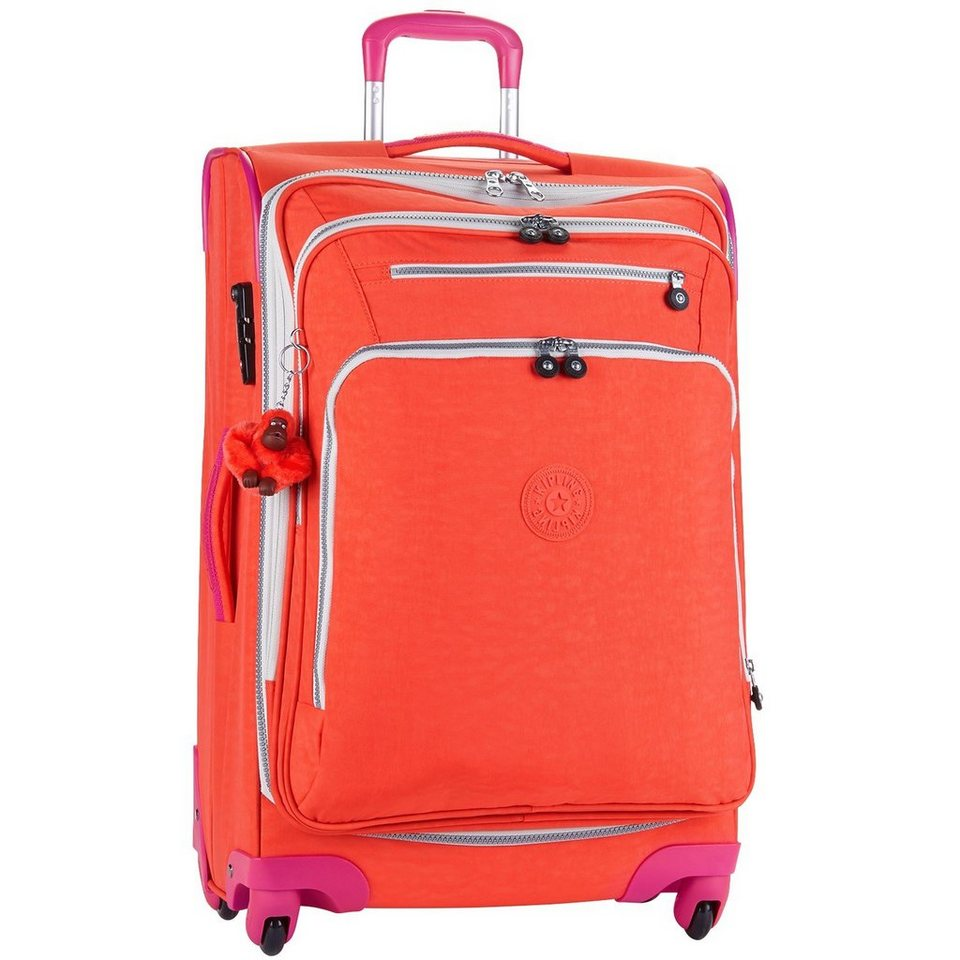 KIPLING Basic Travel 4-Rollen Trolley Youri Spin 68 cm in coral rose ct