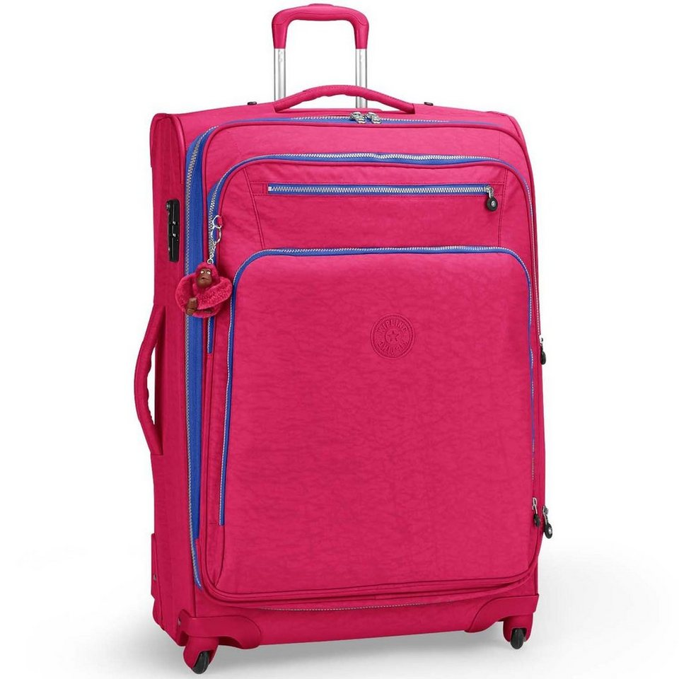 KIPLING Basic Travel 4-Rollen Trolley Youri Spin 78 cm in flamb pink ink