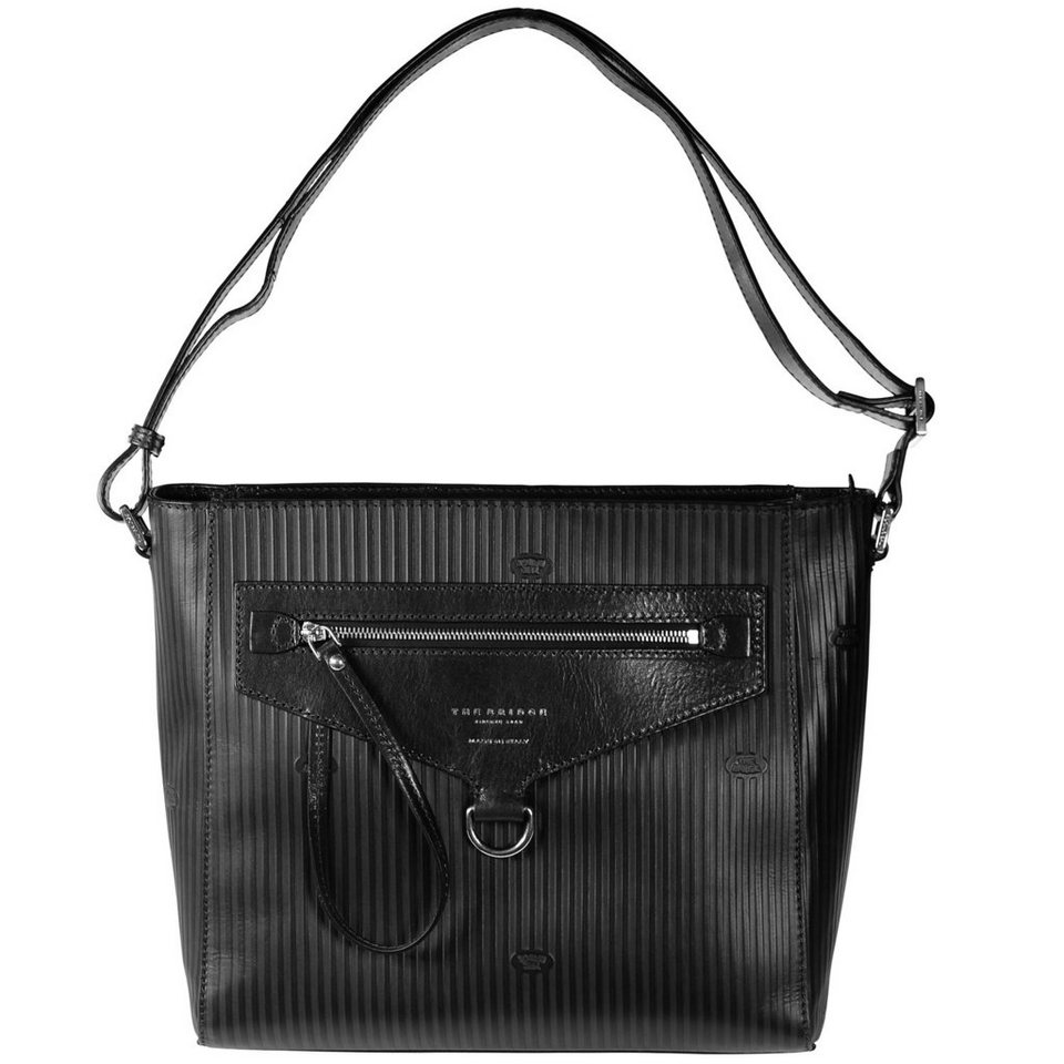 The Bridge Heritage Luxe Donna Umhängetasche Leder 30 cm in nero