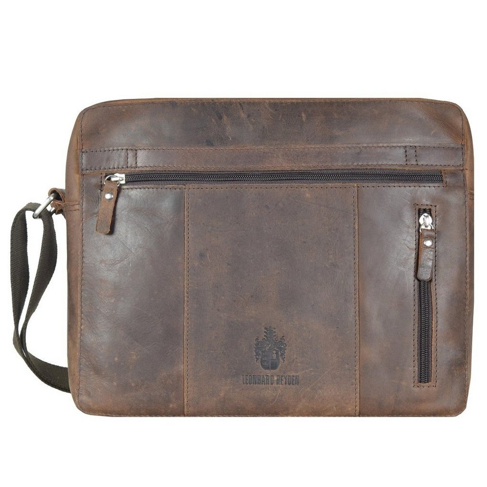 Leonhard Heyden Leonhard Heyden Salisbury Schultertasche L Leder 35,5 cm Laptopf in braun