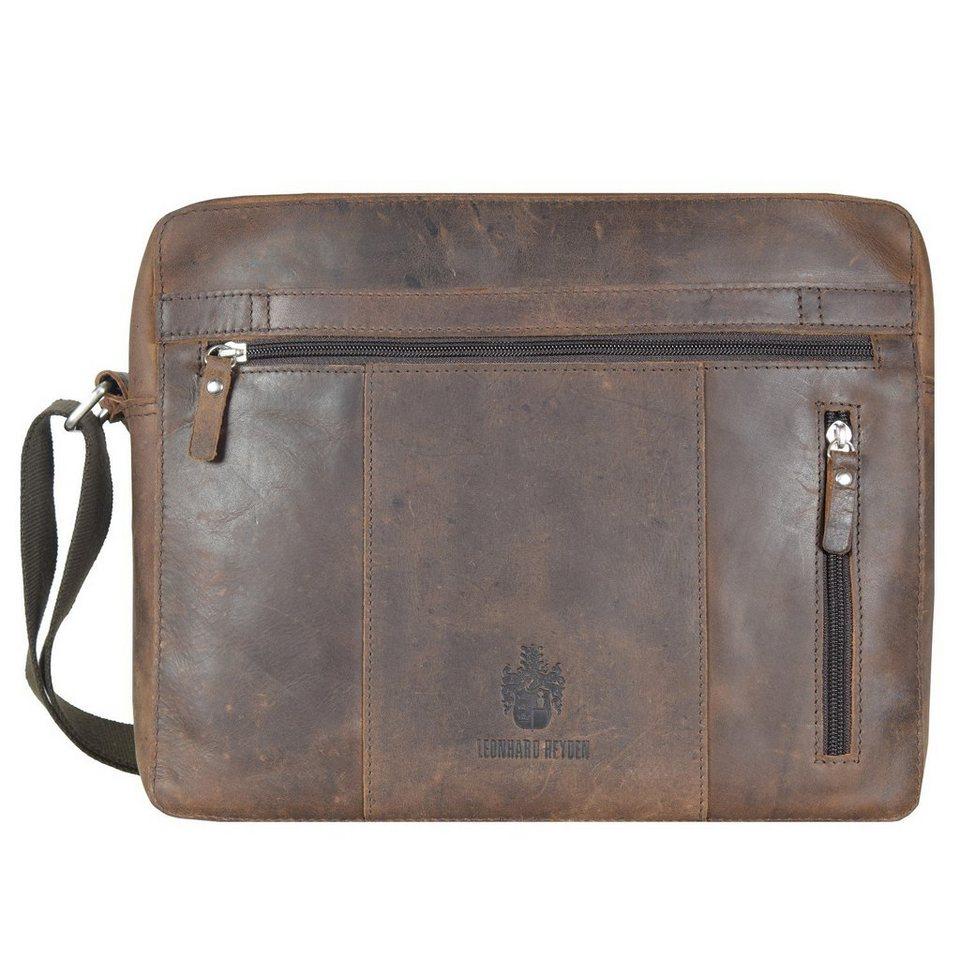 Leonhard Heyden Salisbury Schultertasche L Leder 35,5 cm Laptopfach in braun