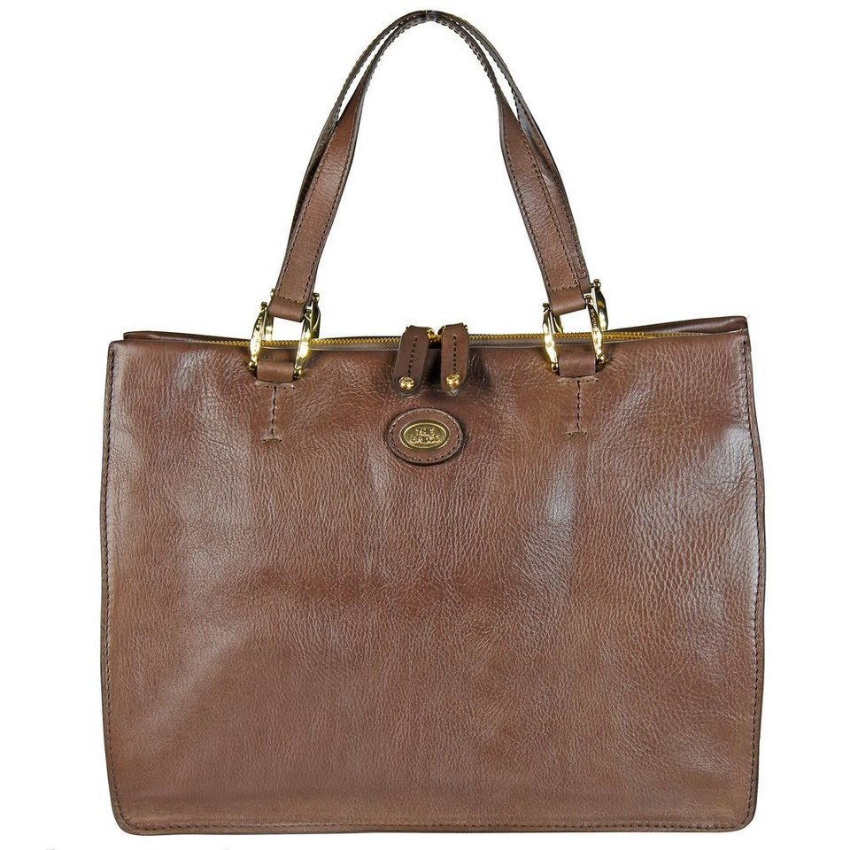 The Bridge Saddlery Donna Henkeltasche Handtasche Leder 35 cm in marrone