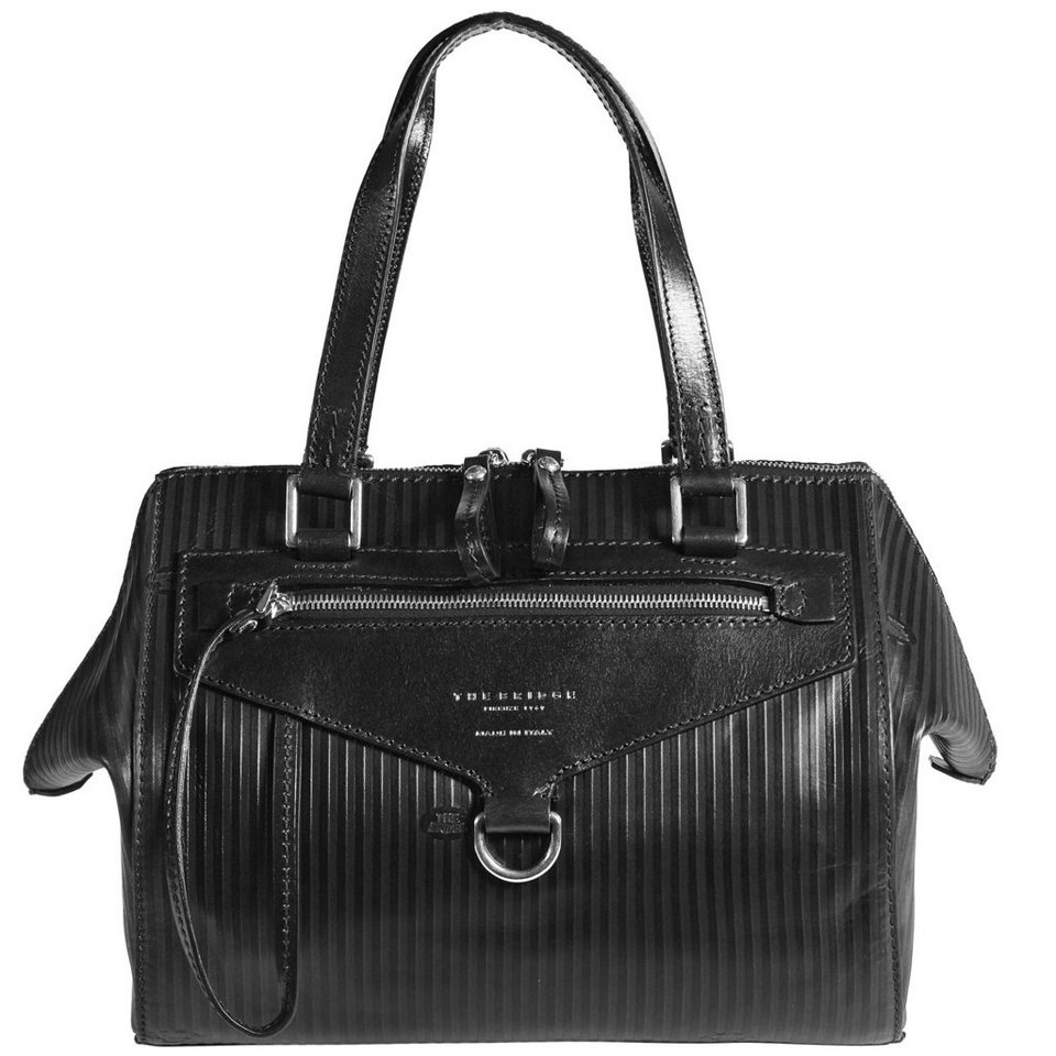 The Bridge Heritage Luxe Donna Henkeltasche Leder 30 cm in nero