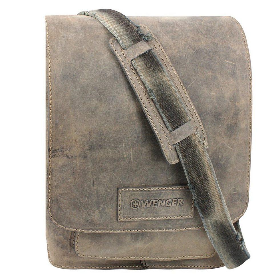 Wenger Stonehide Umhängetasche Leder 31 cm in braun