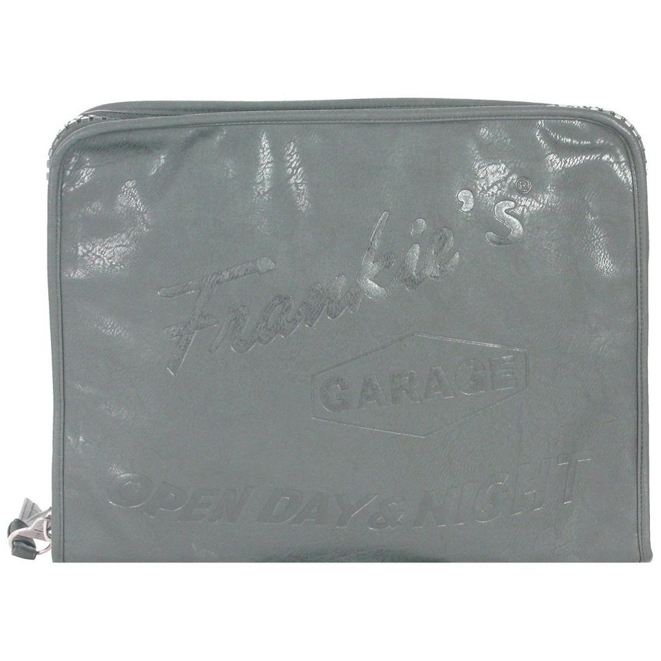 Frankies Garage Frankies Garage Document Case Schreibmappe Leder 39 cm in grey