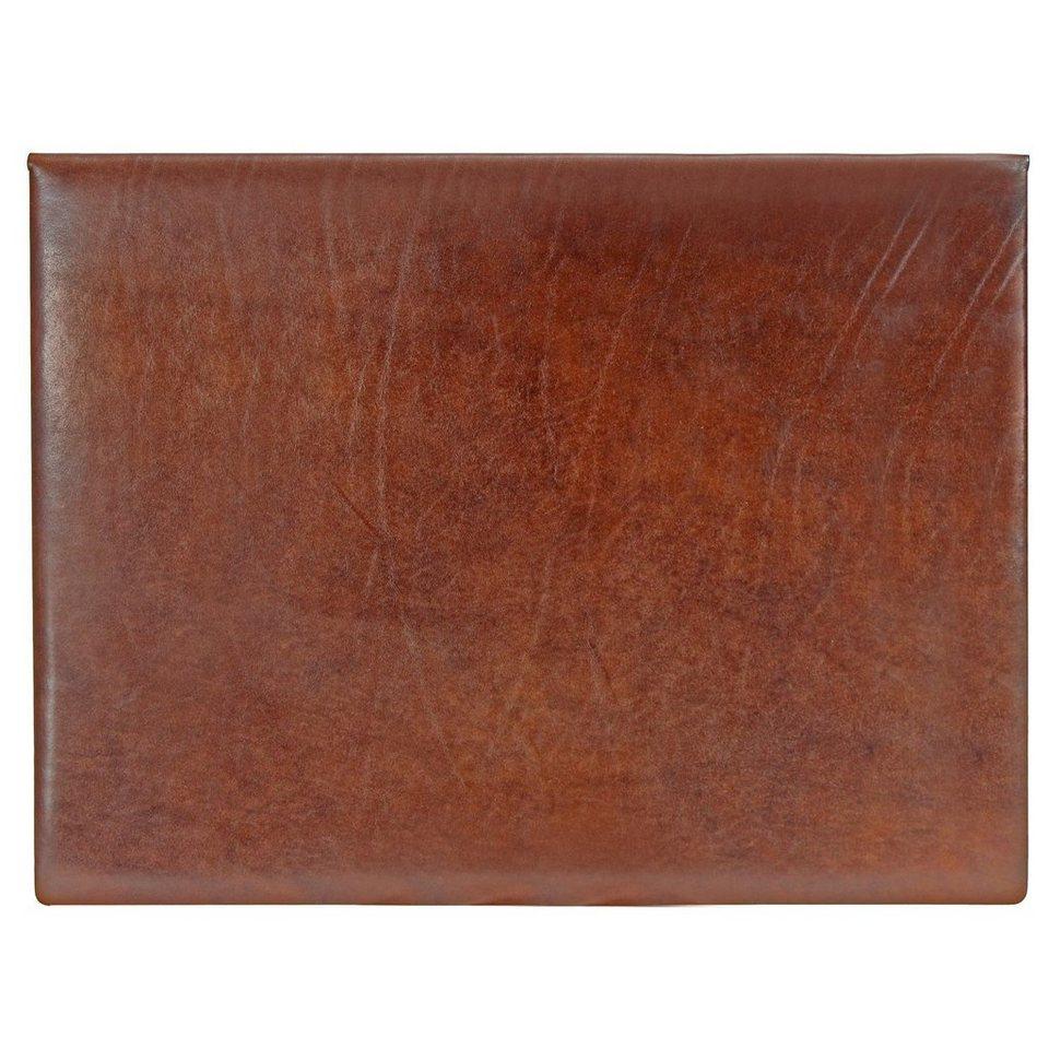 The Bridge Story Exclusive Schreibunterlage Blotter Leder 48 cm in marrone