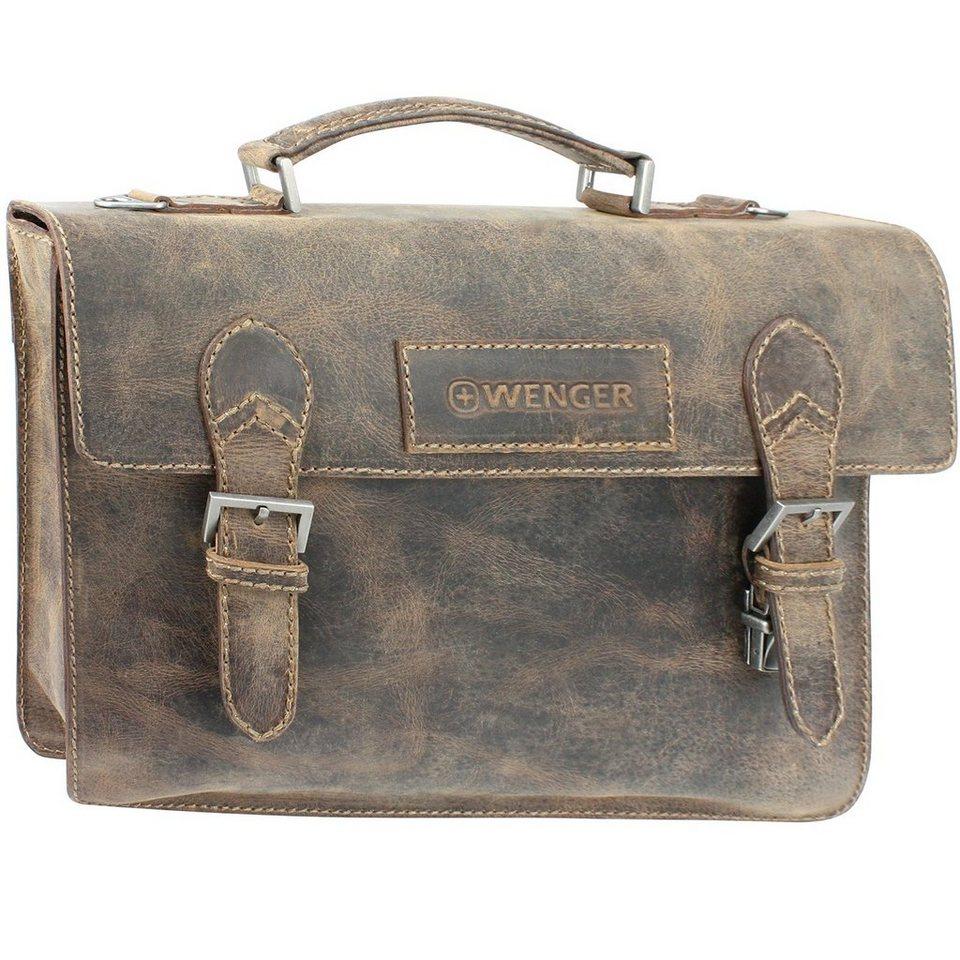Wenger Arizona Aktentasche Leder 40 cm Laptopfach in braun