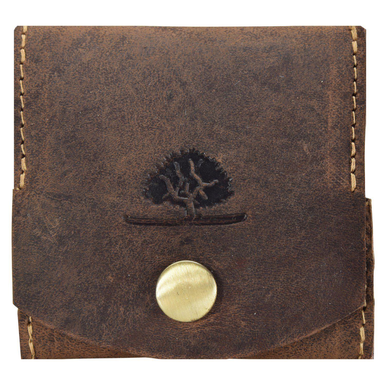 Greenburry Vintage Geldbörse Münzbörse Leder 7,5 cm