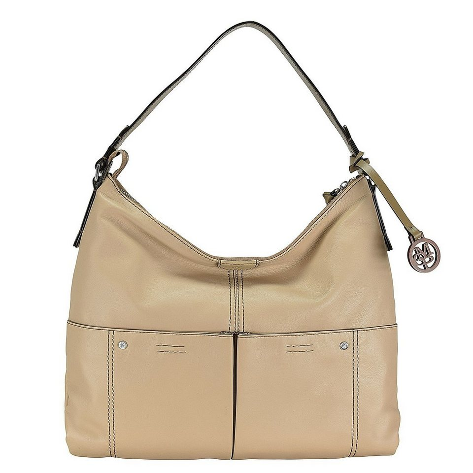 Marc O'Polo Soft Sheep Schultertasche Leder 37 cm in sand