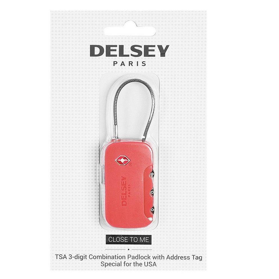 Delsey Delsey Accessoires Vorhängeschloss TSA in rot