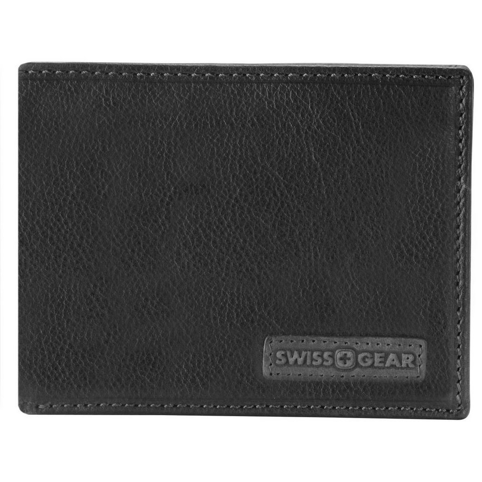 Wenger Swiss Gear Spot Geldbörse Leder 12,5 cm in schwarz