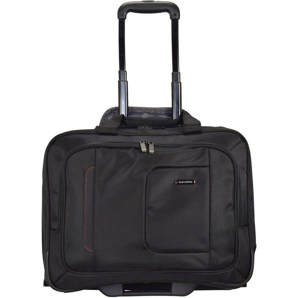 travelite -@work Business Trolley 49 cm Laptopfach in schwarz