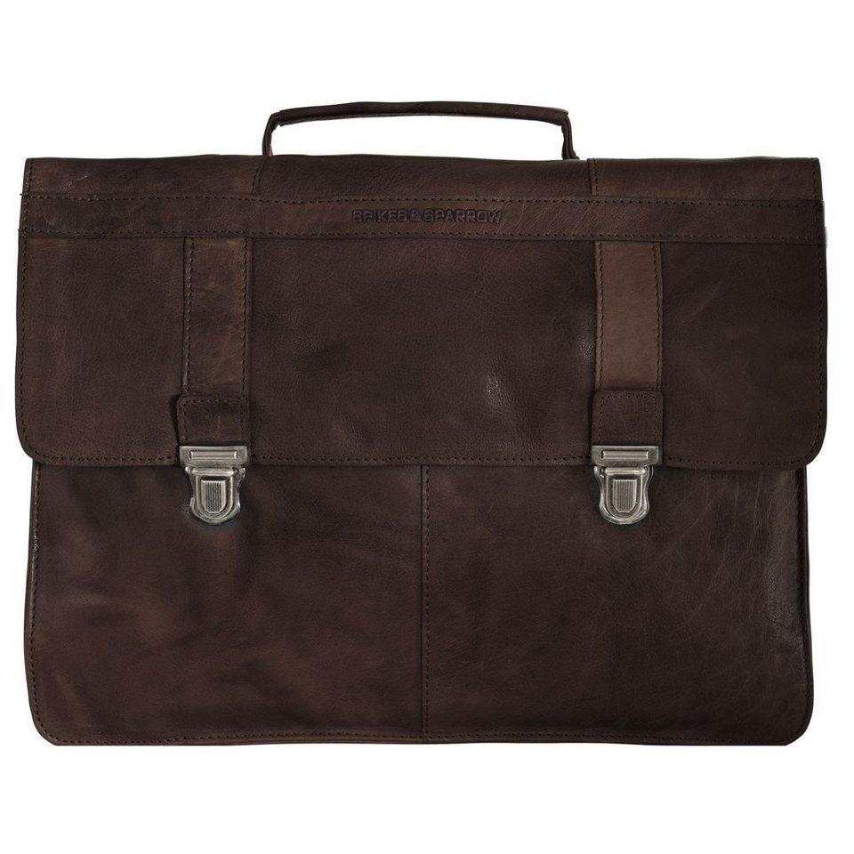 Spikes & Sparrow Spikes & Sparrow Bronco Aktentasche 38,5 cm Laptopfach in dark brown