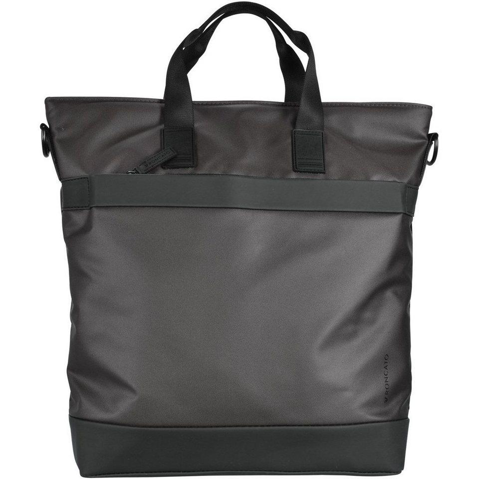 RONCATO Oxford Shopper Tasche 34 cm Laptopfach in schwarz