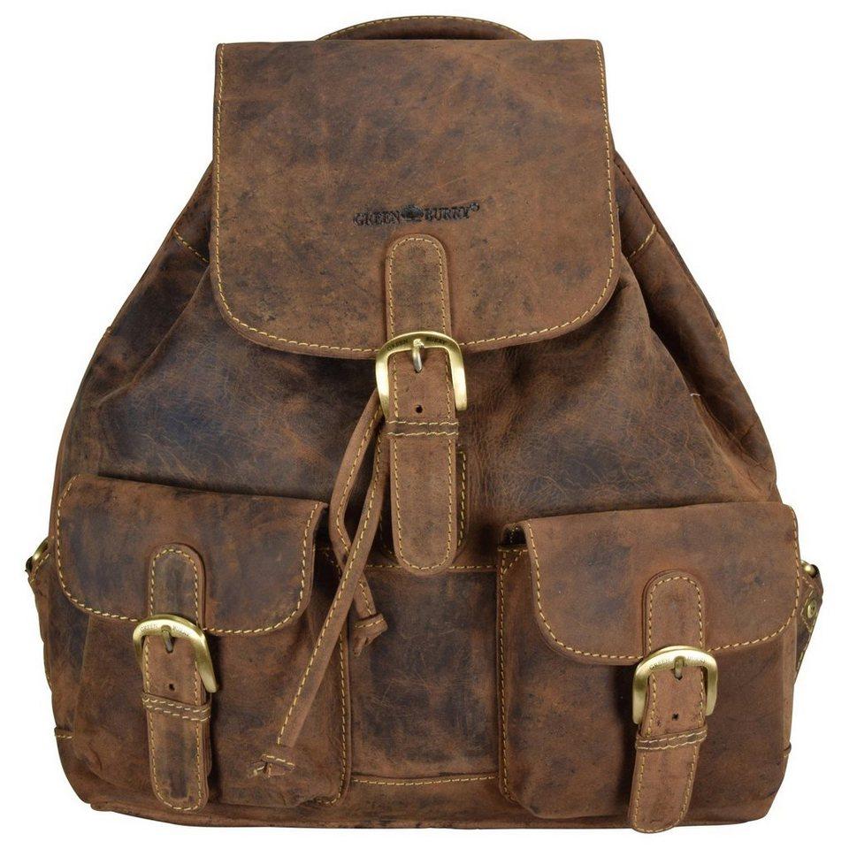 Greenburry Vintage Rucksack Leder 35 cm in braun