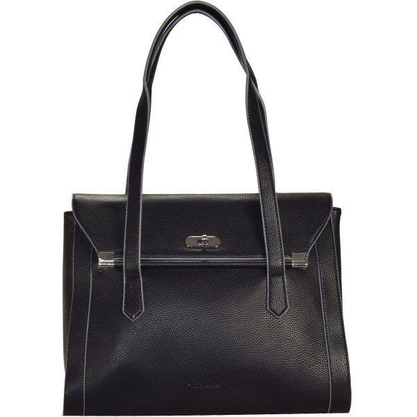 Damen tamaris Tiana Business Schultertasche 34 cm schwarz | 04011214132230