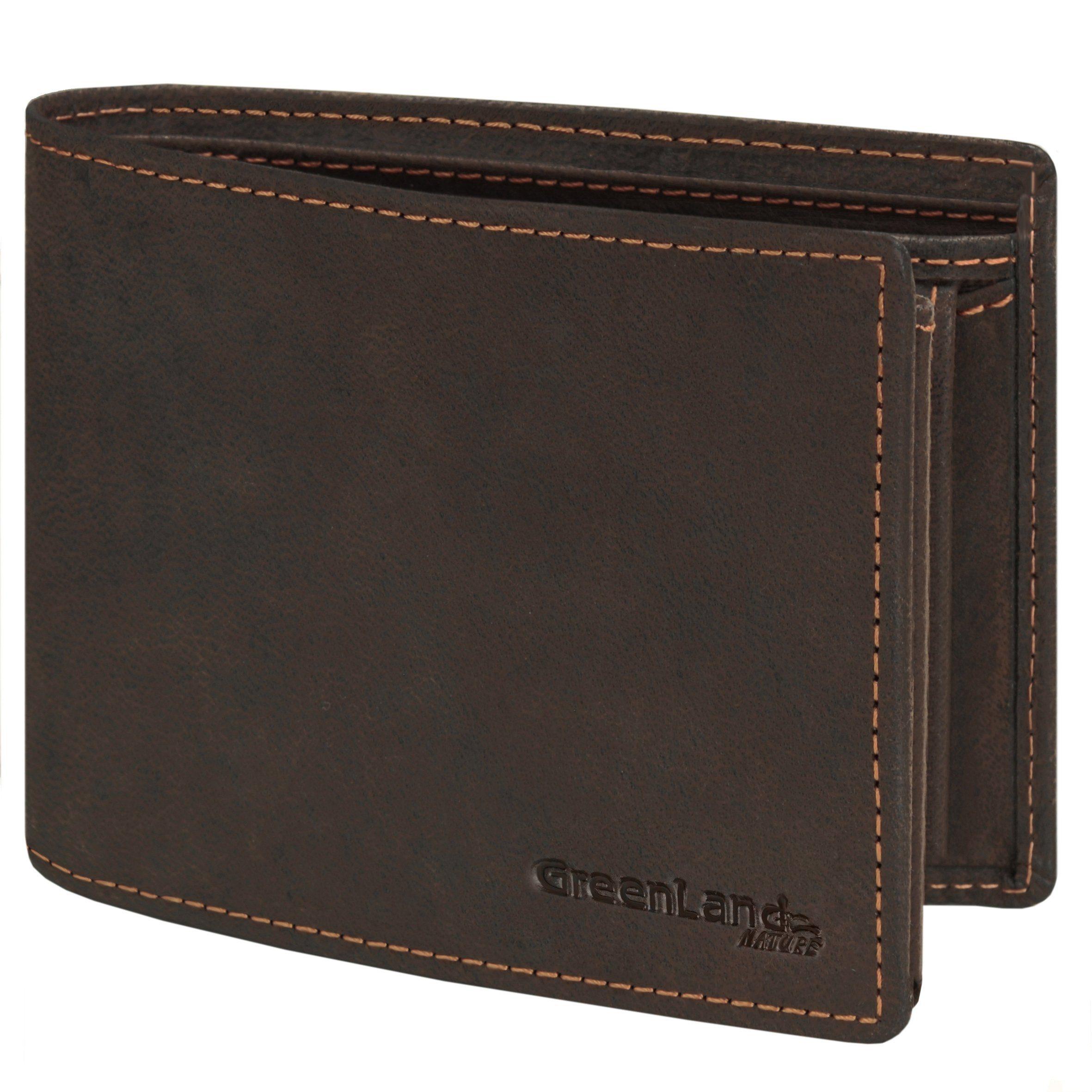 GREENLAND Westcoast Geldbörse Querformat 9994-03 Leder 12,5 cm mit Klappfa
