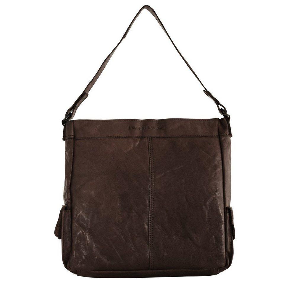 Spikes & Sparrow Spikes & Sparrow Bronco Shopper Tasche 30 cm in dark brown