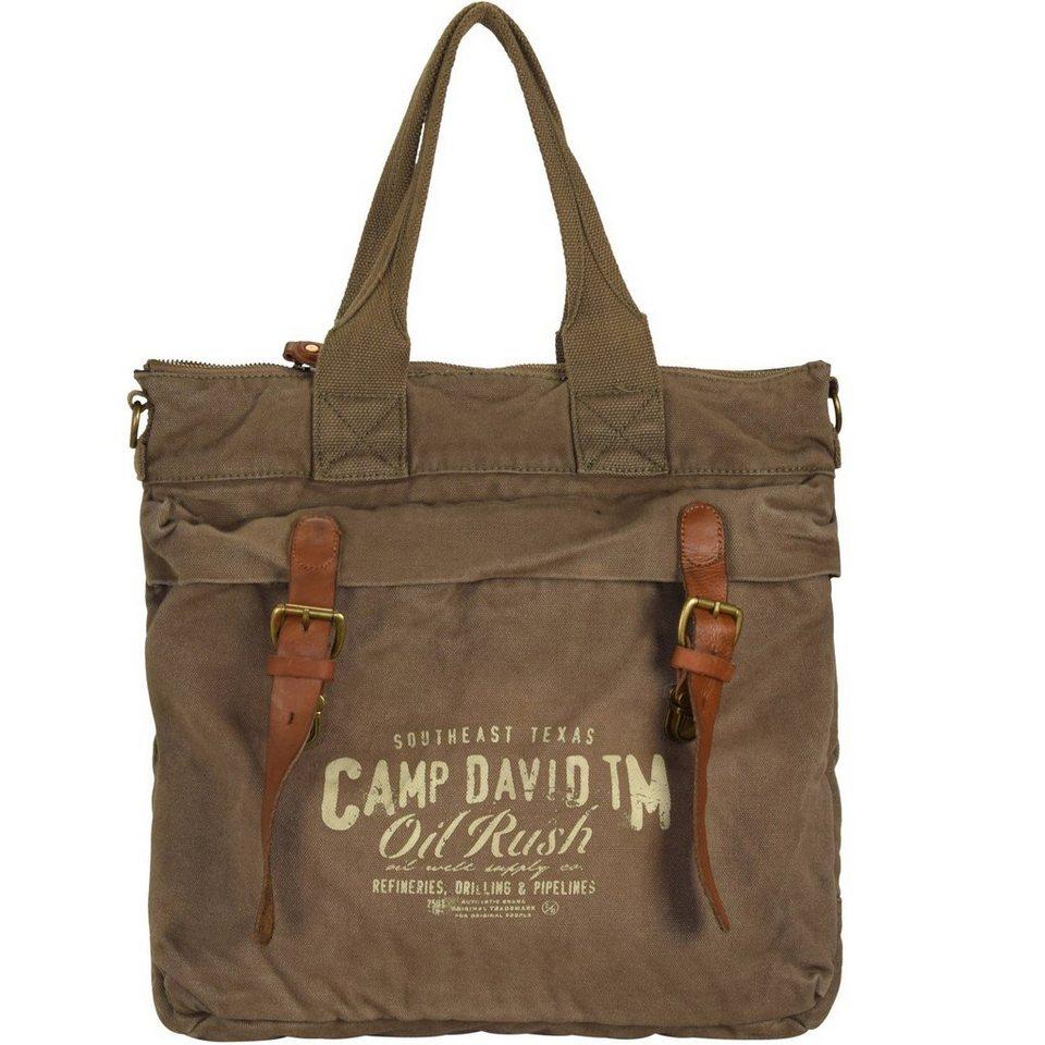 CAMP DAVID Camp David Wolf Creek Shopper Tasche 38 cm Laptopfach in khaki