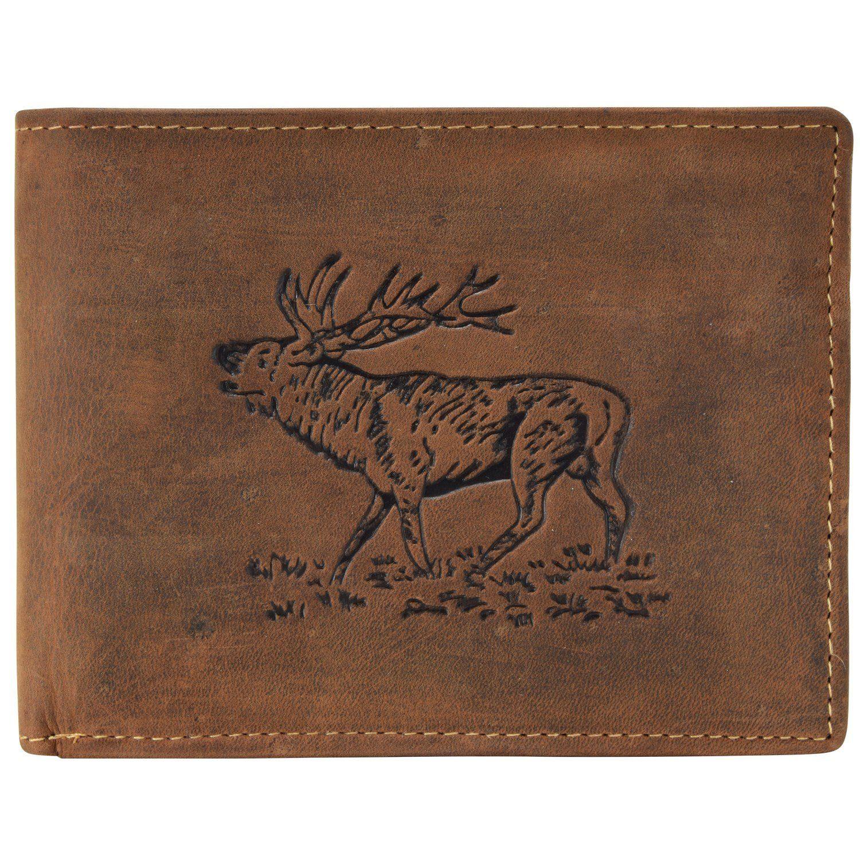 Greenburry Vintage Hirsch Geldbörse Leder 12 cm