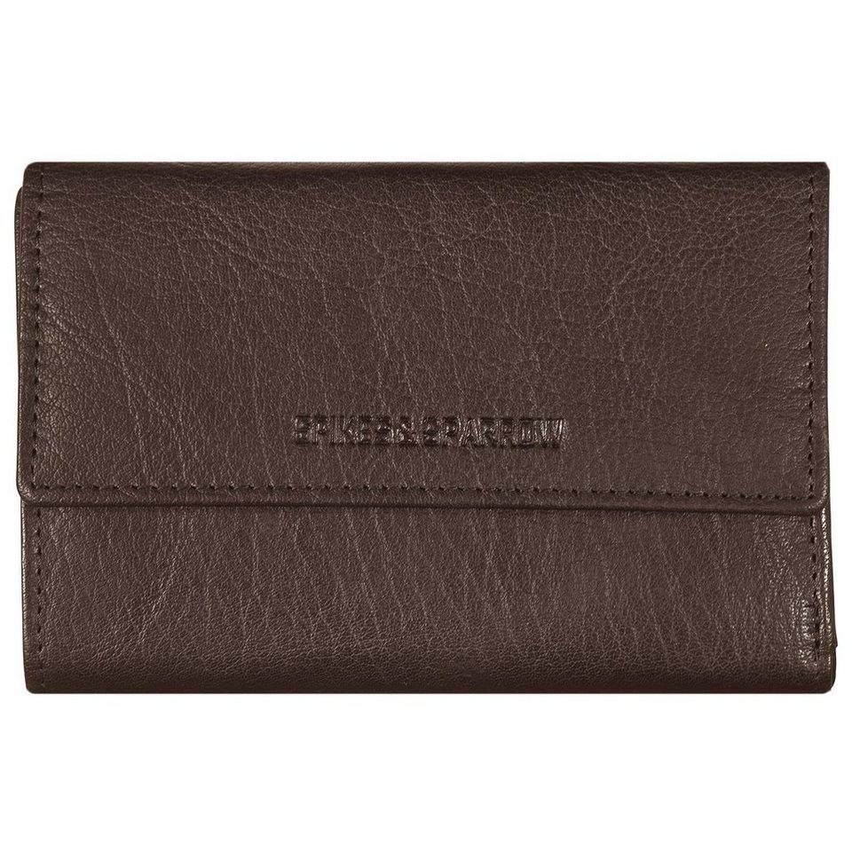 Spikes & Sparrow Spikes & Sparrow Bronco Wallets Geldbörse Leder 15 cm in dark brown