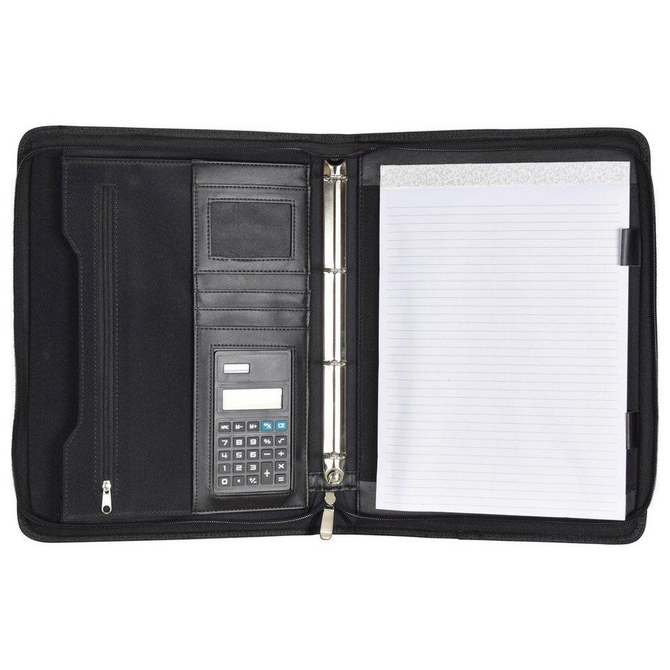 d & n d&n Easy Business Schreibmappe Leder 26 cm in schwarz