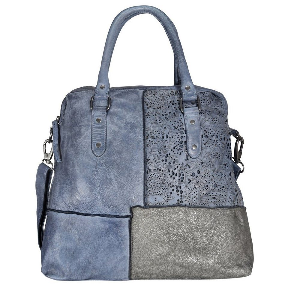 Billy The Kid Billy the Kid Culture-Mix Estefania Shopper Tasche Leder 40 cm in aqua-blue