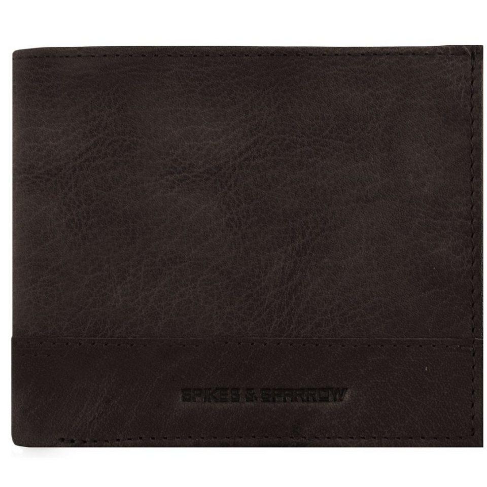 Spikes & Sparrow Spikes & Sparrow Bronco Geldbörse Leder 11,5 cm in dark brown