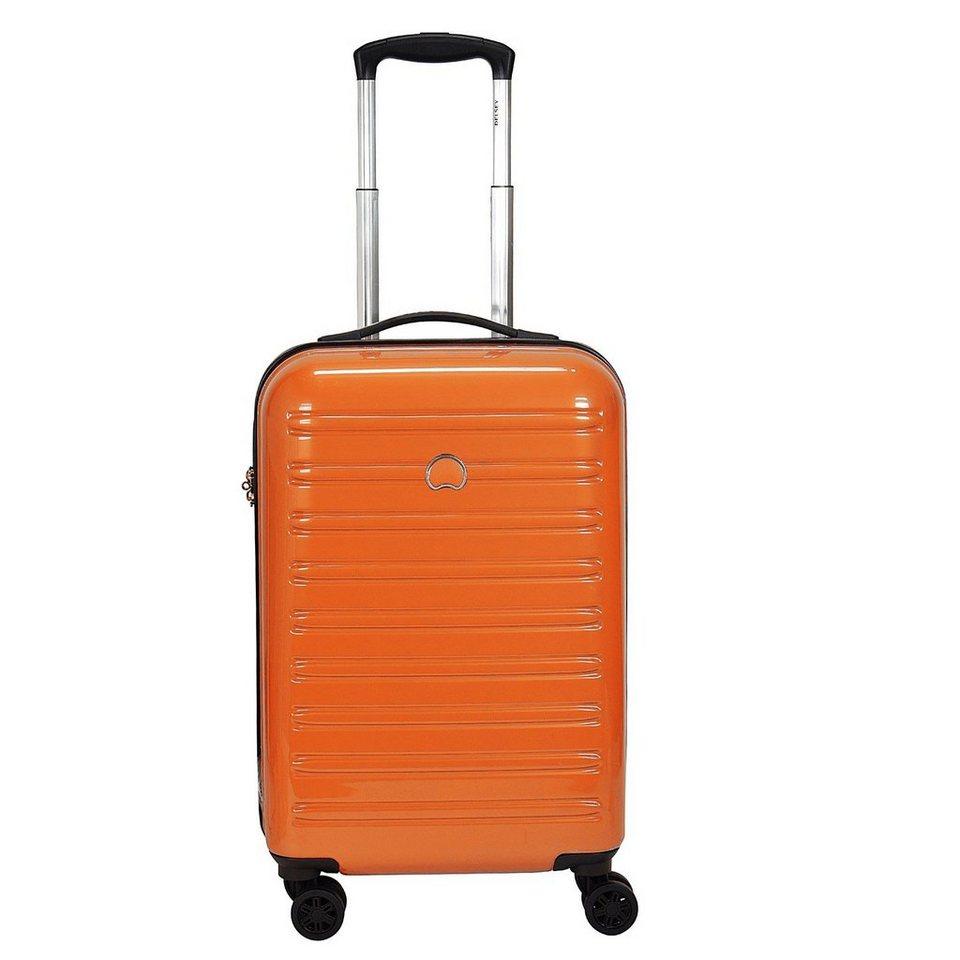 Delsey Segur 4-Rollen Kabinentrolley 55 cm in orange