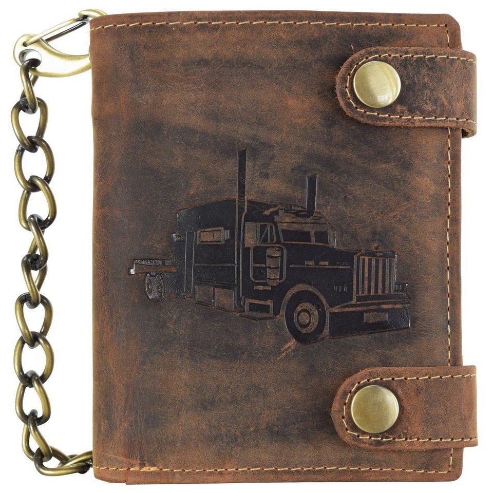 Greenburry Vintage Geldbörse Leder 10 cm in braun