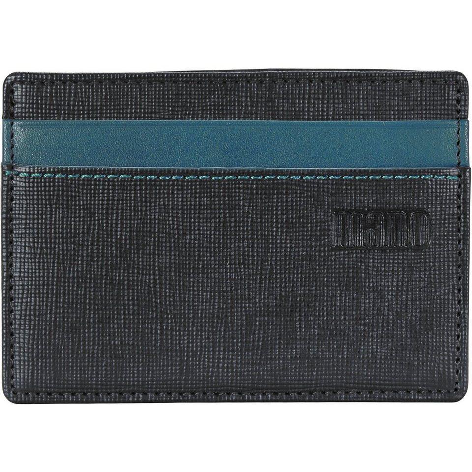 MANO Conventus Kreditkartenetui Leder 10 cm in schwarz-braun