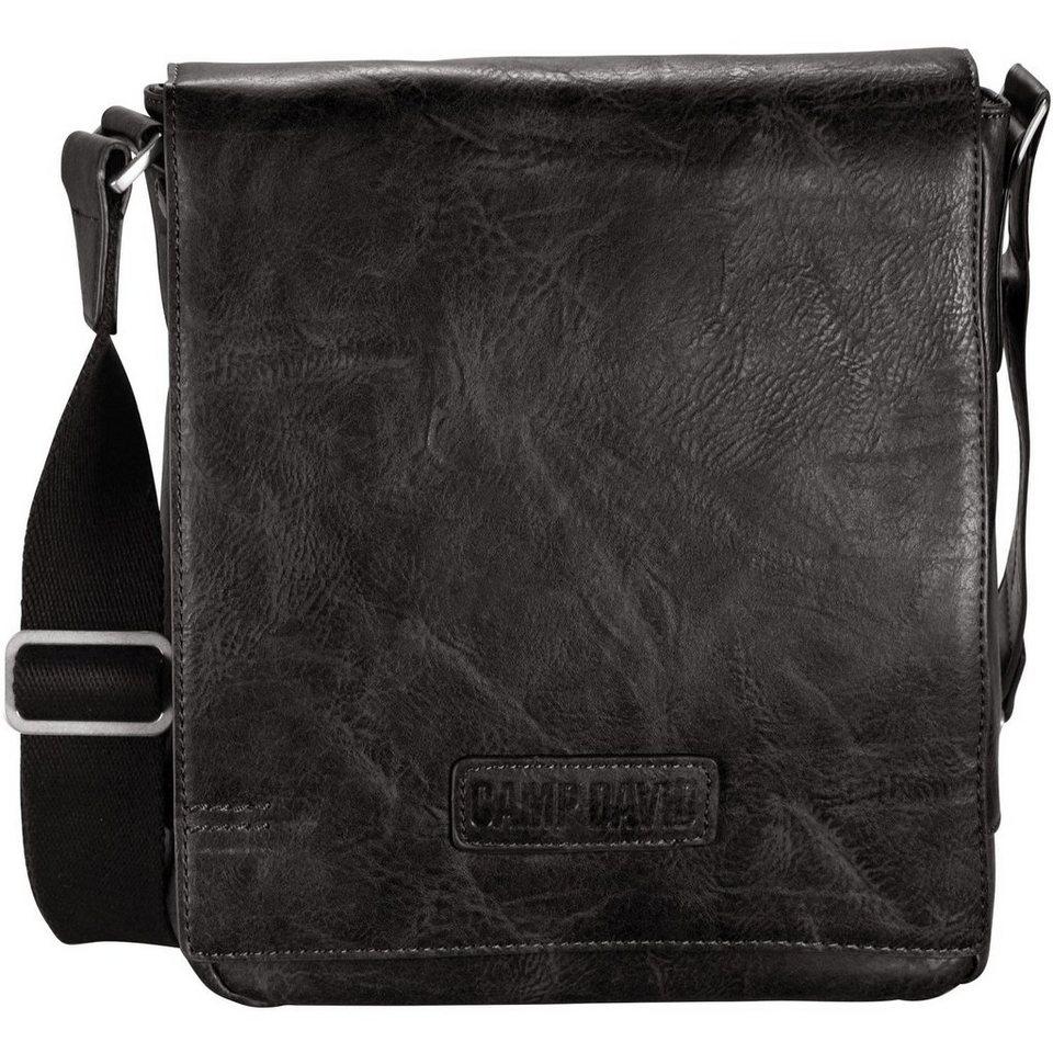 CAMP DAVID Mount Bear Messenger Umhängetasche 21 cm in schwarz