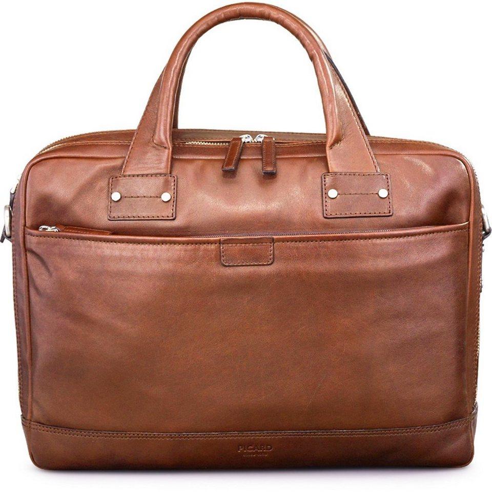 Picard Do it Businesstasche Leder 39 cm Laptopfach in cognac
