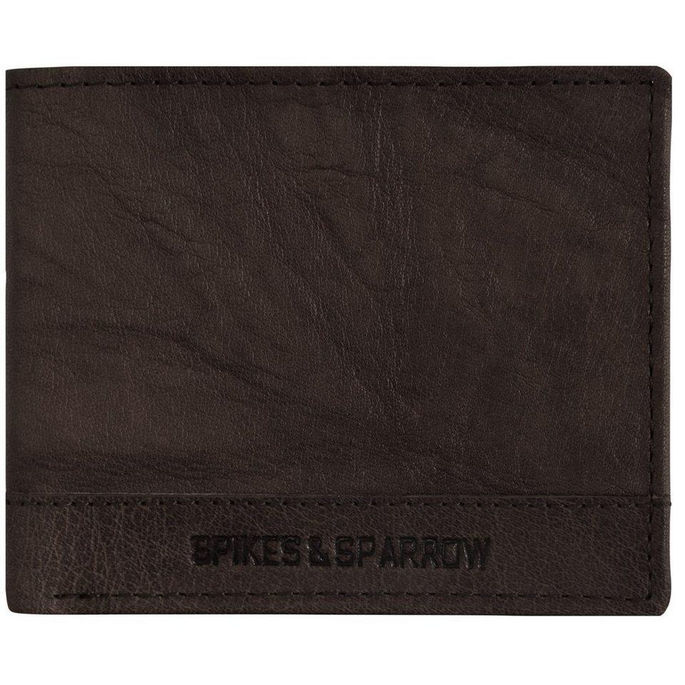 Spikes & Sparrow Bronco Geldbörse Leder 11 cm in dark brown