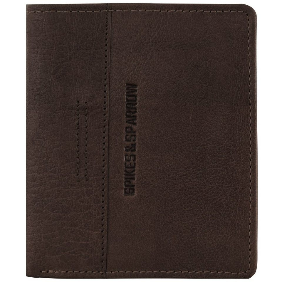 Spikes & Sparrow Spikes & Sparrow Bronco Geldbörse Leder 11 cm in dark brown