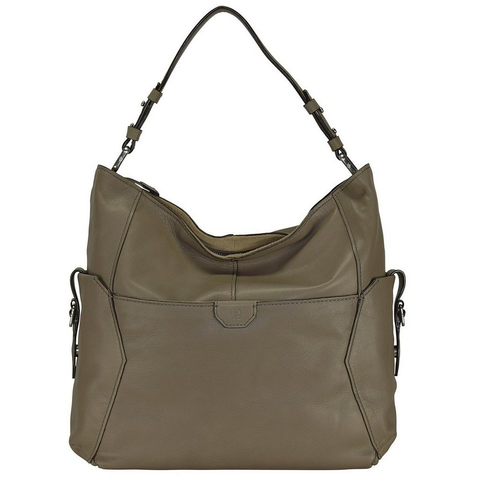 Marc O'Polo Soft Goat Schultertasche Leder 35 cm in stone