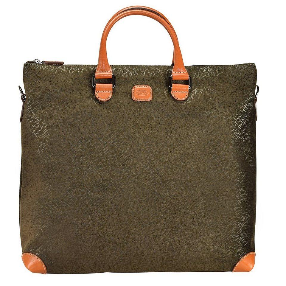 Bric's Bric's Life Milano Shopper Tasche 40 cm Laptopfach in olive