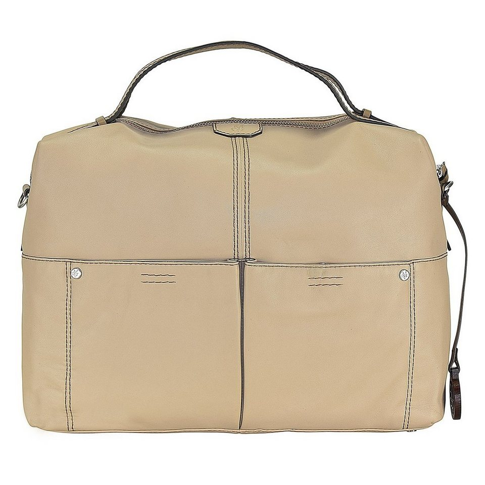 Marc O'Polo Soft Sheep Schultertasche Leder 35 cm in sand