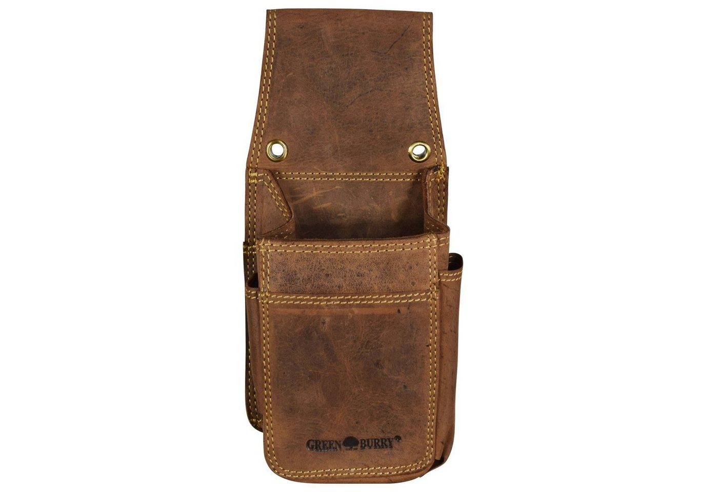 Greenburry Vintage Gürteltasche Leder 14,5 cm | Taschen > Gürteltaschen | Braun | Leder | Greenburry