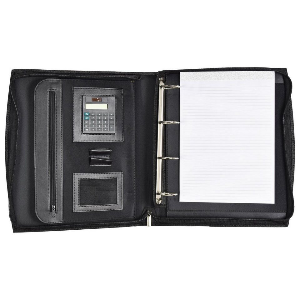 d & n d&n Easy Business Schreibmappe Leder 30 cm in schwarz