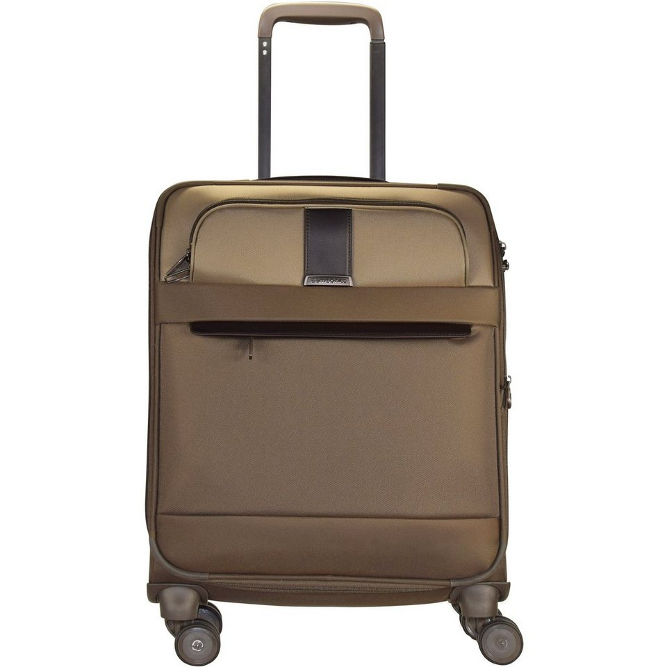 Samsonite Streamlife 4-Rollen Spinner Kabinentrolley 55cm in walnut dark brown