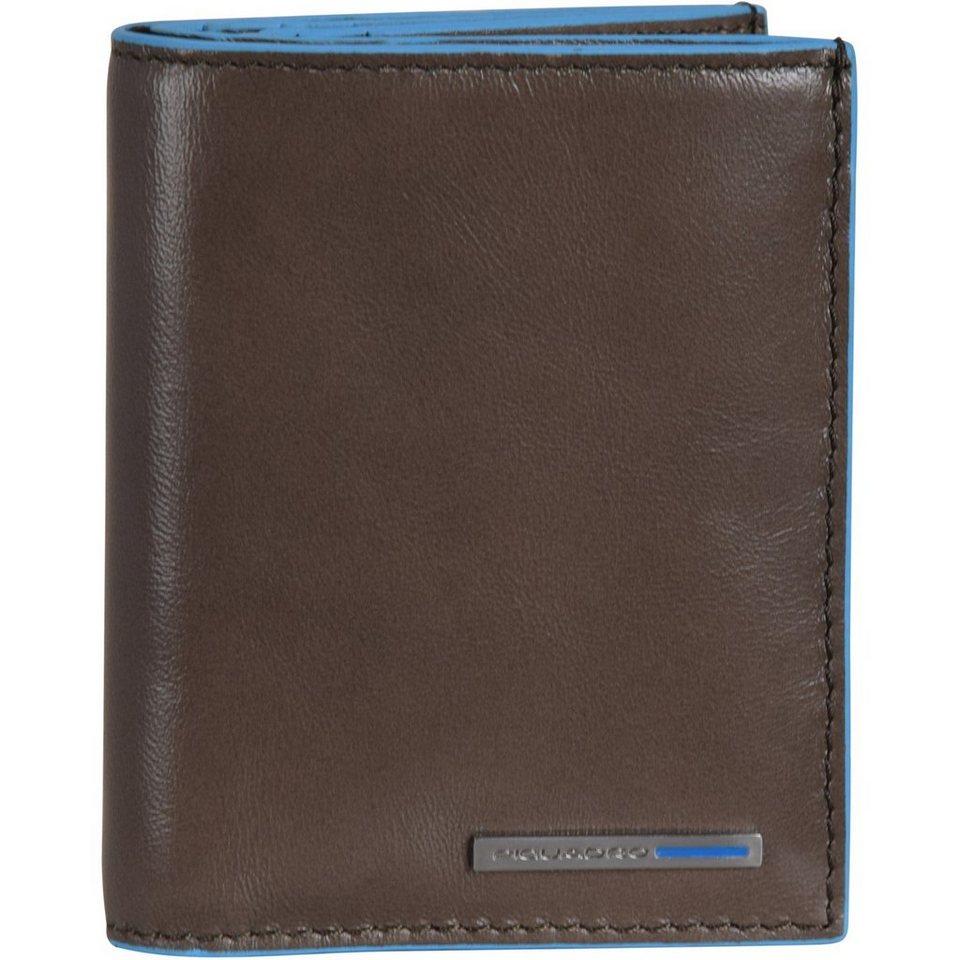 Piquadro Blue Square Geldbörse Leder 8,5 cm in taupe
