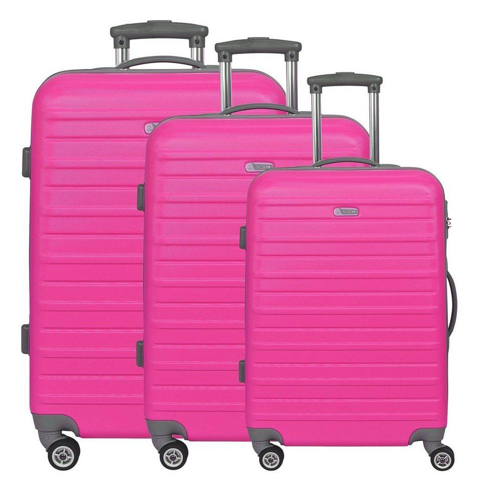 d & n d&n Scion Travel Line 9400 4-Rollen Trolley-Set 3-tlg. in pink