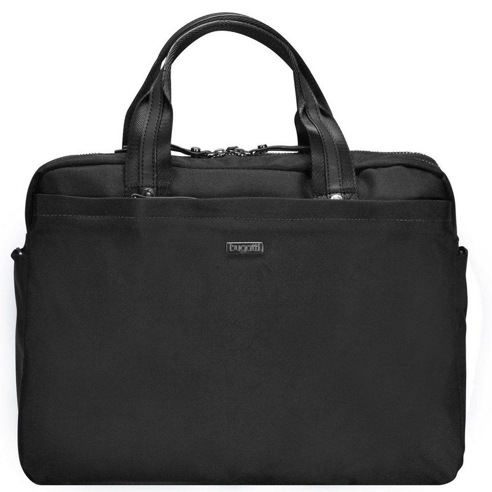 Bugatti Contratempo Aktentasche 39 cm Laptopfach in schwarz