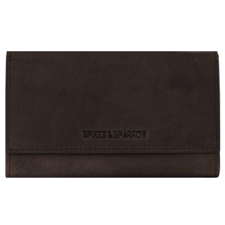 Spikes & Sparrow Bronco Geldbörse Leder 17 cm in dark brown