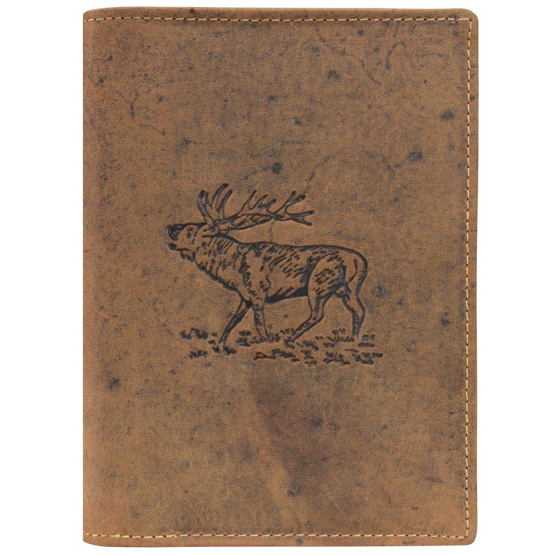Greenburry Vintage Hirsch Ausweisetui Leder 12 cm